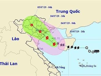 Bão số 2 đã đổ bộ vào Hải Phòng-Nam Định với gió giật cấp 11