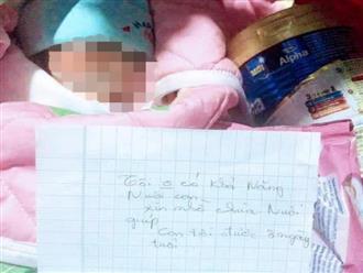 Bé gái sơ sinh bị bỏ rơi dưới chân tượng phật Quan Âm kèm bức thư của người mẹ