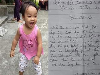 """Bé xinh xắn bị mẹ bỏ rơi ở chùa để """"đi lấy chồng"""":Người mẹ có tìm con?"""