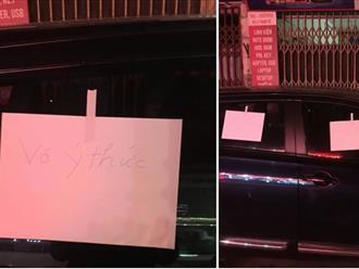 Bị đỗ xe chắn cửa, chủ nhà để lại tờ giấy nhắn đọc phát biết ngay là người hiền lành dễ thương