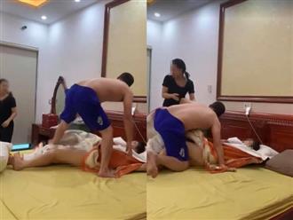 Bị bắt quả tang cùng bồ nhí trong nhà nghỉ, chồng hung hăng túm tóc dúi đầu vợ đuổi ra khỏi phòng