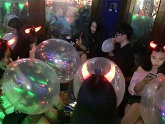 Bộ Y tế cấm sử dụng bóng cười tại Hà Nội