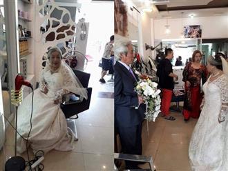 Bức ảnh đám cưới kim cương đong đầy yêu thương của 'ông bà anh' khiến cư dân mạng trầm trồ ngưỡng mộ