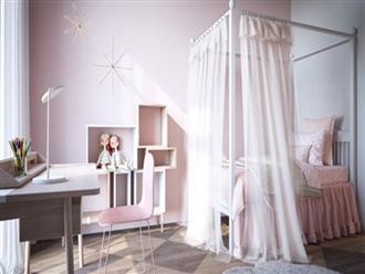 Cách phối mầu, trang trí phòng ngủ dễ thương cho trẻ