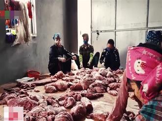 Cận cảnh công đoạn biến lợn chết thành... trâu gác bếp, thịt hun khói