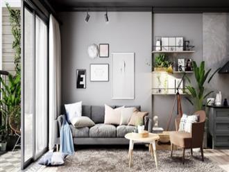 Căn hộ màu xám dành cho người thích sự giản dị