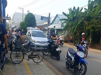 Cảnh sát bắn lốp ô tô, bắt nhóm người mang hung khí đi đánh nhau