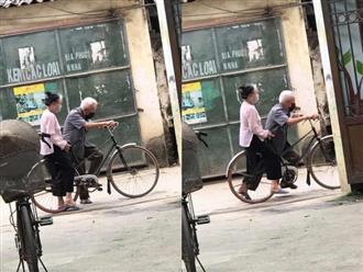 Câu chuyện nhỏ của 2 ông bà cùng chiếc xe đạp khiến dân tình xốn xang, hạnh phúc sao mà đơn giản đến thế này