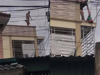 Cha bế con trai gần 3 tuổi lên nóc nhà, la hét 'tôi muốn làm người lương thiện' rồi ném xuống đất