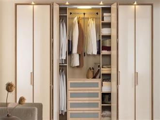 Chọn tủ quần áo đúng phong thủy cho nhà thịnh vượng, hạnh phúc bền lâu