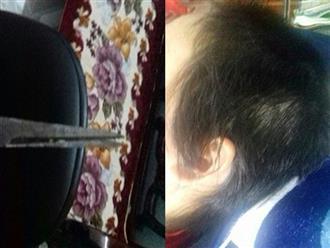 Chồng đánh đập, cạo trọc đầu, làm nhục vợ bất chấp con nhỏ đứng trước mặt
