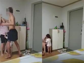 Clip chồng Hàn đánh đập vợ Việt dã man trước mặt con nhỏ: 'Chẳng phải tao đã nói mày không còn ở Việt Nam hả?'