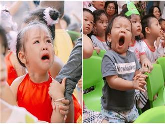 Chùm ảnh: Giọt nước mắt bỡ ngỡ và những biểu cảm khó đỡ của các em nhỏ trong ngày khai giảng