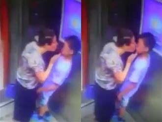 Clip bé trai bị người phụ nữ lớn tuổi cưỡng hôn trong thang máy khiến cộng đồng mạng xôn xao
