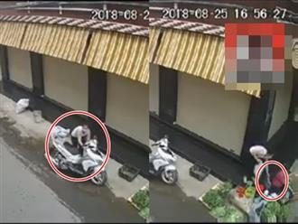 Clip cô gái trẻ đi xe sang trộm tiền của bà cụ bán rau gây bức xúc
