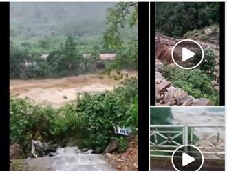 Clip mưa lũ, sạt lở ở Lai Châu liên tục được chia sẻ trên mạng xã hội