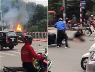 Vụ Mercedes tông liên hoàn rồi bốc cháy khiến 1 người tử vong ở Hà Nội: Hé lộ danh tính nữ tài xế