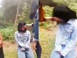 Clip nữ sinh cấp hai ở Nghệ An bị nhóm bạn đánh hội đồng, bắt quỳ gối xin lỗi