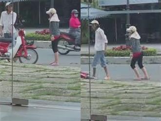Clip: Bị vợ đánh giữa đường, thái độ của người chồng khiến dân mạng kinh ngạc