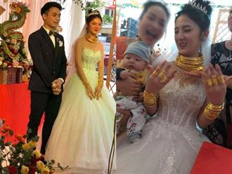 Cô dâu, chú rể Cao Bằng đeo vàng nặng trĩu cổ, kín cả 2 bàn tay khiến dân mạng xuýt xoa