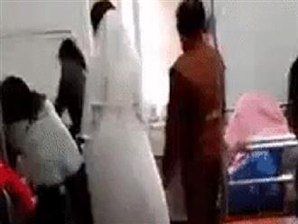 Chuyện thật như đùa: Cô dâu bất ngờ chuyển dạ trong lúc làm lễ cưới, vừa sinh xong lại tiếp tục trang điểm chờ chú rể đến đón