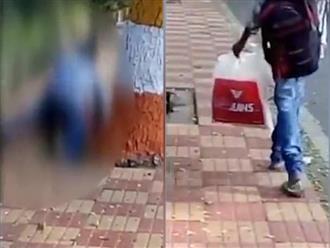 Clip sốc: Cô gái bị hiếp dâm giữa phố, người qua đường vô tư đứng quay phim chứ không cứu