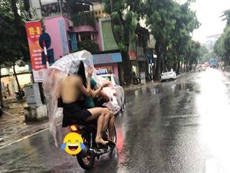 Thời trang phang thời tiết: Ngán ngẩm cô gái trẻ mặc váy hở bạo khoe trọn lưng trần, để vòng 1 'lộ thiên'