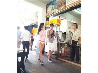Cô gái vô tư mặc quần chíp đi lại trên phố khiến nhiều người nóng mắt