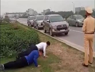 """CSGT Bắc Giang lên tiếng về clip phạt tài xế chống đẩy do không đeo khẩu trang chống COVID-19: """"Tài xế chống đẩy để chứng minh sức khoẻ tốt"""""""