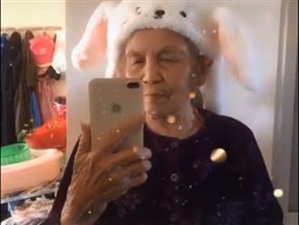 Cụ bà 86 tuổi khiến giới trẻ trầm trồ thán phục vì quay clip 'thả thính' siêu đỉnh
