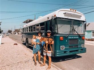 Cuộc sống của gia đình trẻ trên xe buýt cũ giá 186 triệu đồng