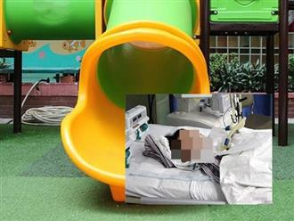 Hà Nội: Bé trai 3 tuổi tử vong thương tâm vì mắc kẹt khi chơi cầu trượt ở trường mầm non