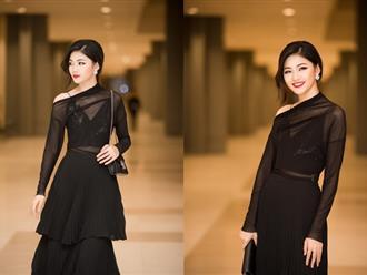 """Diện trang phục xuyên thấu, Á hậu Thanh Tú """"lột xác"""" cực gợi cảm, đẹp sắc sảo tại sự kiện"""