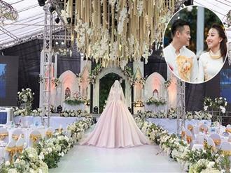 Hé lộ thân thế cô dâu trong đám cưới siêu khủng ở Hưng Yên rạp dựng 10 ngày, riêng tiền trang trí đã 2 tỷ, ca sĩ Đan Trường, Quỳnh Nga tham dự