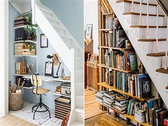 Ai mà ngờ gầm cầu thang có thể trở thành không gian đầy hữu ích lại dễ thực hiện thế này