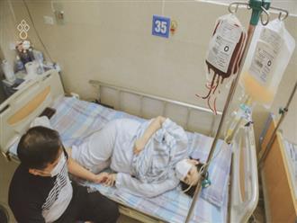 Giọt nước mắt của người đàn ông khi chứng kiến vợ mang thai 37 tuần bỗng phát hiện ung thư máu