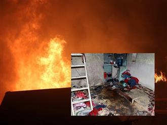 Hai bé trai chết thương tâm trong phòng trọ bốc cháy ở Sài Gòn