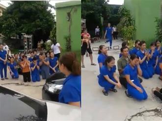 Xôn xao clip hàng chục giáo viên mầm non quỳ xin được tiếp tục dạy trẻ