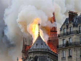 Hé mở nguyên nhân vụ cháy nghiêm trọng khiến Nhà thờ Đức Bà sụp đổ qua tiết lộ của cảnh sát