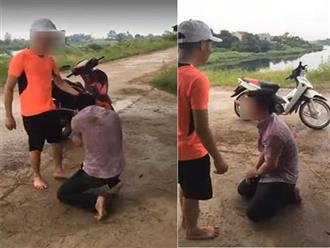 Nam thanh niên bị đánh tả tơi, phải quỳ gối xin lỗi vì trót dại hẹn bà bầu đi nhà nghỉ 'tâm sự'
