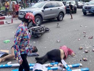 Hiện trường kinh hoàng vụ xe khách tông hàng loạt xe máy khiến nhiều người thương vong ở Quảng Ninh