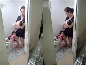 Hình ảnh mẹ bỉm một nách hai con khiến các cô gái thôi ngay ý định... lấy chồng