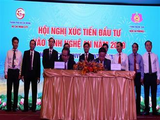 Hội nghị Xúc tiến đầu tư vào tỉnh Nghệ An 2019: 117 dự án trọng điểm, nhiều chính sách ưu đãi