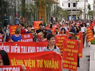 """Khu đô thị Ngoại giao đoàn: Dân lại """"xuống đường"""" phản đối chủ đầu tư"""
