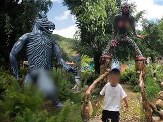 Khu du lịch mới khai trương ở Đà Lạt bị dân mạng 'ném đá' vì những bức tượng có tạo hình phản cảm, tục tĩu, không phù hợp với trẻ em