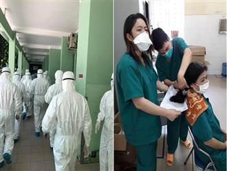 Loạt hình ảnh xúc động về y bác sĩ trước trận chiến mới chống lại Covid-19: Người tạm biệt con ốm vào Đà Nẵng cứu viện, người không ngại cắt phăng mái tóc dài