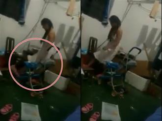 Mẹ kế thẳng chân đạp vào bụng con chồng, bố ngồi quay clip đăng lên mạng xã hội dằn mặt vợ cũ