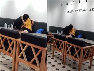 Nóng mắt với 'bàn tay hư hỏng' của nam thanh niên mò mẫm dưới áo bạn gái giữa quán cà phê Sài Gòn