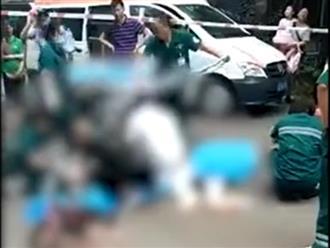 Nam thanh niên nhảy lầu rơi trúng hai bà cháu đi đường, cả 3 tử vong