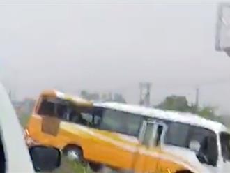 Nghệ An: 2 mẹ con tử vong tại chỗ sau khi xe khách đâm vào lan can